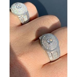 Harlembling Iced Out Round Cluster Hip Hop Ring